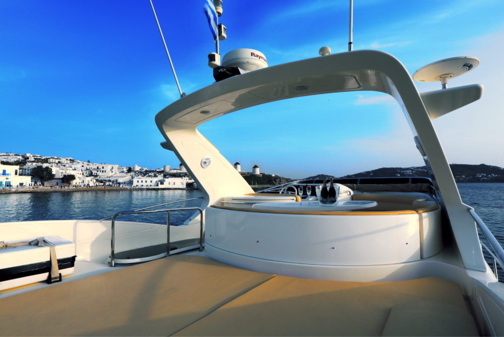 "Mykonos Yachting - Private & Luxury Yacht Charter - :Njoy"" - Azimut 55 Flybridge"