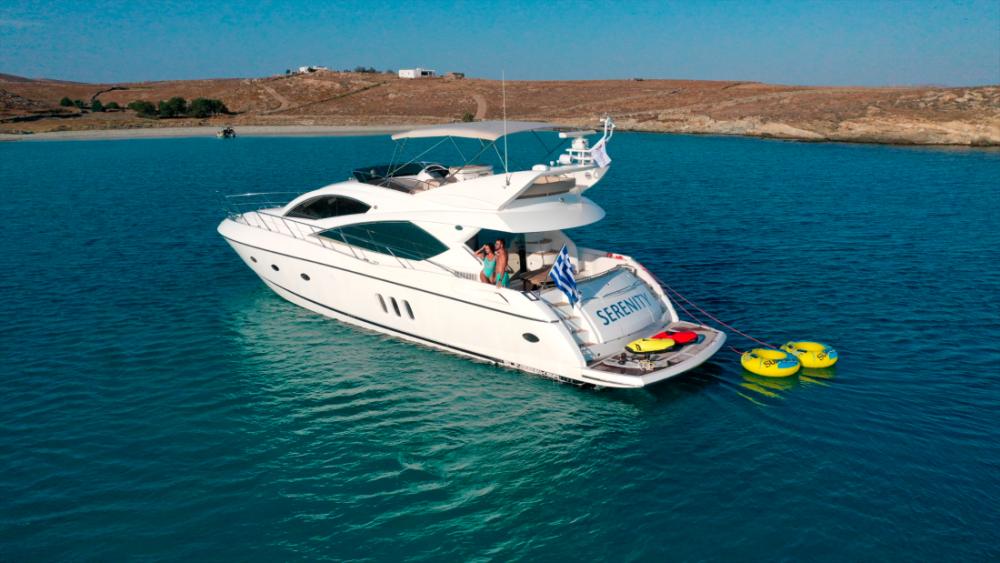 Mykonosyachting-Luxuty-Private-Yacht-Charter-Serenity-Sunseeker60-Flybridge-1