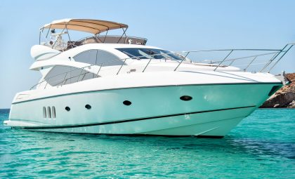 "Mykonos Luxury Yacht Rental - Sunseeker Manhattan 60, ""Serenity"""