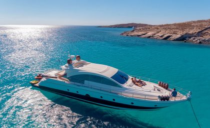 "Luxury Mykonos Yacht Charter - Aicon 72 Hardtop ""Majestic"""