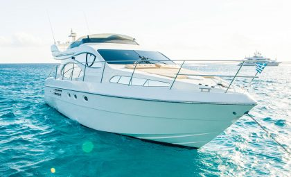 "Luxury Boat Azimut 46 Flybridge ""Jenny Z"" | Mykonos Yacht Charter"
