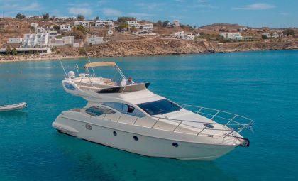 Azimut 43 Flybridge Luxury Boat | Mykonos Yacht Charter