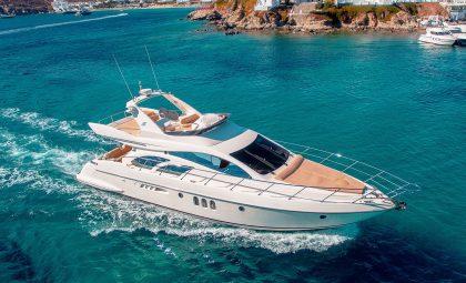 "Luxury Mykonos Yacht Charter - Azimut 55 Flybridge ""Njoy"""